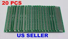 2x8cm PCB Double-Sided DIY Proto Circuit Breadboard PCB (Universal) 20x