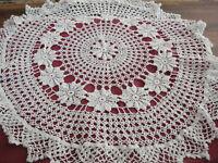 """25"""" Crochet Round Doily White Very Pretty"""