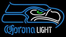 "New Corona Light Seattle Seahawks Neon Sign 20""x16"""