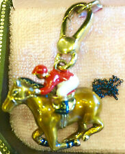 NWT JUICY COUTURE JOCKEY ON A HORSE CHARM YJRU3816