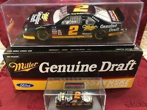 RUSTY WALLACE #2 Miller Genuine Draft 1995 RCCA 1/24 HO Car 1/64 HO Car SET Case