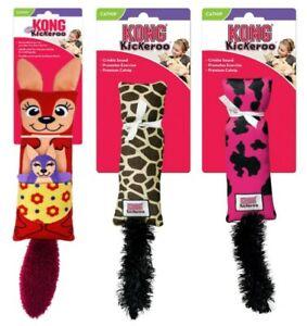KONG KICKEROO Cat Toy Giraffe, Cow, Kanga with CATNIP 4 Back Kicking & Wrestling