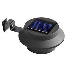 Black Solar Powered 3 LED Gutter Lights Outdoor