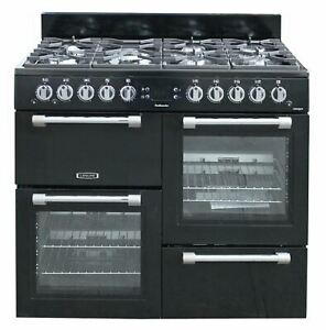 Leisure 100cm Gas Range Cooker Free Standing CK100G232K Double Oven Black #2019