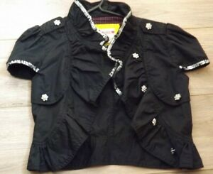 Influence, Girls Black Sequined Jacket / Bolero, size 11/12