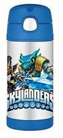 Skylanders Thermos Funtainer for Kids ~ 12 oz ~ Blue