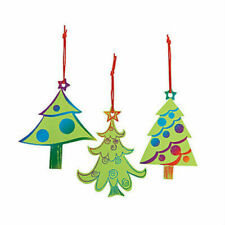 MAGIC SCRATCH CHRISTMAS TREE CRAFT KIDS CLASSROOM - 24PK