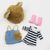 """3PCS Takara 8"""" Middie Blythe Doll Factory furry bella bo  Outfit Clothes"""