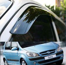 WINDOW RAIN Vent SUN VISOR Smoke Genuine For Hyundai 2002 2011 GETZ CLICK