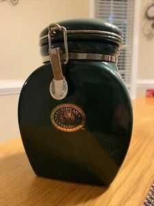 European Coffeehouse Collection Coffee Canister Green EXC Condition