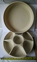 Tupperware Divided Serving Tray & Lid 1665-1 1665-5 Vegetables, tacos, Icecream+