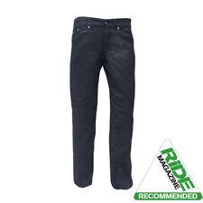 Pantaloni Jeans nero per motociclista Uomo