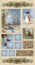 "Timeless Treasures Winter Memories CF4527 Panel 24"" x 44"" FLANNEL"