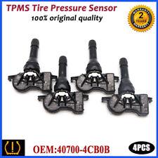 4x 40700-4CB0B TPMS Tire Pressure Sensor 433Mhz For Nissan Altima Micra Infiniti