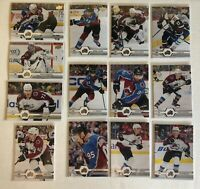 COLORADO AVALANCHE 2019-20 19-20 UPPER DECK SERIES 1 & 2 TEAM SET (13) MACKINNON