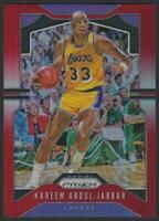 2019-20 Panini Prizm Prizms RED 20 Kareem Abdul-Jabbar 60/299 Los Angeles Lakers
