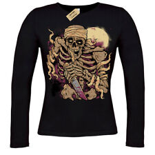 Skeleton Warrior T-Shirt d&d Fighter undead zombie fi T-Shirt ladies long sleeve