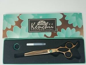 Kenchii Grooming - Rose 54 Tooth Thinning & Texturizing Shear, Razor Sharp Edge