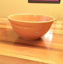Bauer Pottery Ring Ware  #18 Mixing Bowl in the BEAUTIFUL Pumpkin Glaze