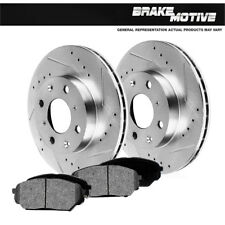 Front Drill And Slot Brake Rotors & Metallic Pads For 98 - 02 Prizm Corolla