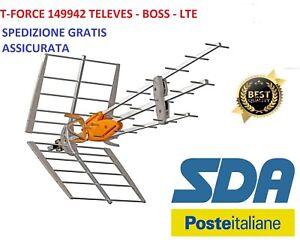 Televes 149942 Antenna Amplificata UHF Guadagno Automatico Boss Tech e T-Force
