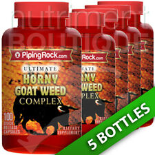 Piping Rock Ultimate Horny Goat Weed Complex 5X100 Caps Passion/Sexual Health