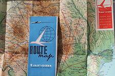 6951 Route map tarom Romanian Air Transport Routen Landkarte Rumänien um 1969