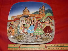 Christmas In Mexico Royal Doulton John Beswick Limited 1973 Plate Plaque 8.25""