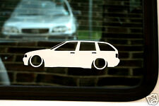 2x LOW BMW e36 Touring 325 tds ,328i car outline stickers