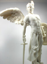"NEW! 13"" Saint Michael White Patron Statue Figurine Religious Gift Police 3257"