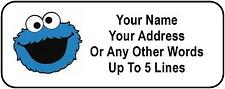 30 Cookie Monster Personalized Address Labels