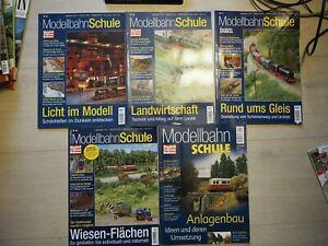 Konvolut 5 Ausgaben Modellbahnschule: 3/40/41/43/44