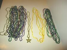 Assorted Lot Mardi Gras Beads Necklaces Deal/25 Beaded Metallic & Faceted