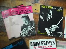 Louie Bellson collection of drumming instruction books - 8 vintage 60's/70's