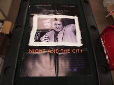 One Sheet Movie Poster Night And The City 1992 Robert De Niro Jessica Lange