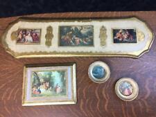 Vintage Lot of 4 Nashco Toleware Italian Wall Hangings Gold Ornate Artwork Decor