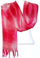 Echarpe Foulard Châle Étole Femme Style Pashmina rose rouge fushia
