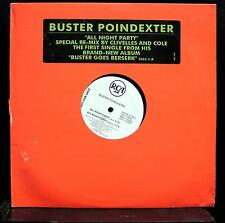 """Buster Poindexter - All Night Party 12"""" VG+ 9002-1-RDAB Promo House Vinyl Promo"""