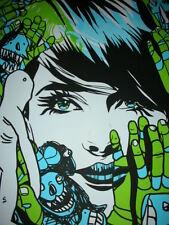Tyler Stout Blue Hint Signed Art Print Poster Silkscreen Print 2008