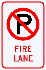 3M Reflective No Parking Fire Lane Sign w/ Symbol Dot Municipal Grade 12 x 18