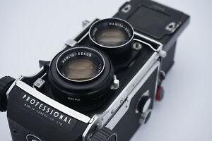 Mamiya c220 professional w/ 105 f/3.5 and filter