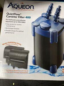 Aqueon QuietFlow Canister Filter 400 for aquarium Up to 155 gallons