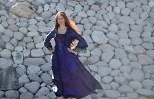 Medieval Costume Renaissance Women Sz L Gown Dress Halloween Purple Princess
