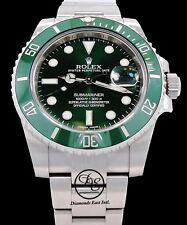 Rolex Uboot Grün Hulk 116610lv Edelstahl Keramic Blende Uhr Mint