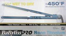 "Babyliss Pro Nano Titanium Blue Flat Iron 1.5"" - NEW"