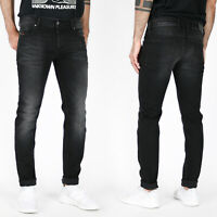 Diesel Mens Slim Skinny Fit Stretch Jeans - Vintage Black - Troxer R6T80