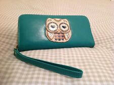 Large turquoise owl purse or small bag,popular ladies gift idea,birthday present