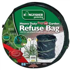 Kingfisher Heavy Duty Pop Up Collapsible Garden Refuse Waste Rubbish Bag Bin