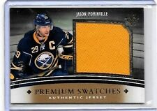 JASON POMNINVILLE 2011-12 ULTIMATE PREMIUM SWATCHES LARGE GAME USED JERSEY#/35