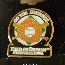 Field of Dreams Dyersville, IA Go the Distance lapel pin baseball movie